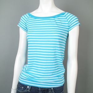 Splendid Turquoise Striped Short Sleeve T-Shirt